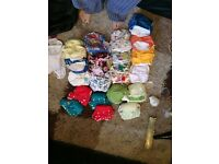 Full set up of cloth nappys