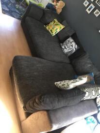 Large corner sofa with foot stool,