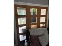 Bi Folding Oak interior doors