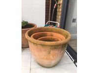 Terracotta Plant Pots for garden (set of 3)