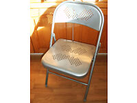 3 METAL FOLDING CHAIRS in need of TLC Please read advert