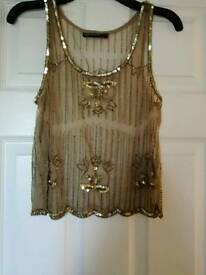Size 8 gold top