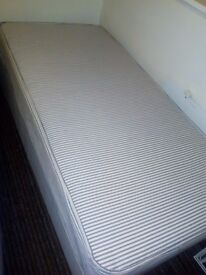 Single bed sprung mattress/base never used. £30 collection only City Centre