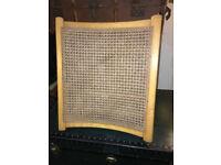 Britton, Malcolm & Waymark Ltd Vintage Adjustable Wooden Caned Back Chair Bed Support Backrest