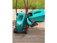 Bosch rotak 34-13 lawnmower and Bosch art 26 sl strimmer