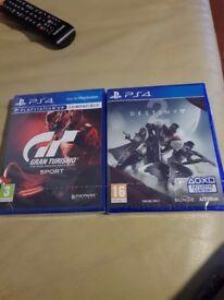 Gt sport and destiny 2 ps4 brand new still sealed