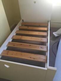 White company beds.