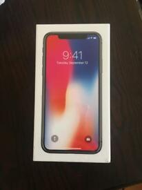 Iphone x (64gb) Space Grey new and unopened