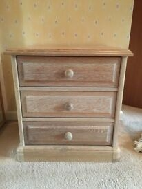 VERY GOOD QUALITY PAIR OF LARGE LIMED OAK BEDSIDE TABLES IN EXCELLENT CONDITION FREE LOCAL DELIVERY