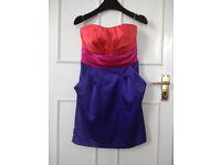 Lipsy London Strapless Dress UK 10