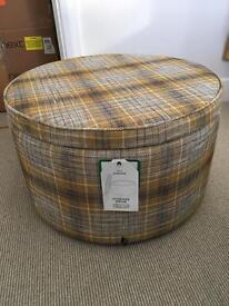 Foot stool, storage drum