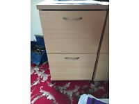 Office filing cabinets x2 in Beech wood