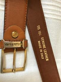 Valentino Belt Brown Genuine Leather 115 100 Made in Italy - used