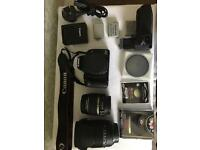 Canon 450D EOS camera, EF-s 18-55mm & Sigma DC 18-250mm lens
