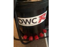 DWC deep water culture system; hydroponic, indoor grow,