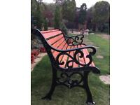 REFURBISHED GARDEN BENCH ALL NEW FITTINGS