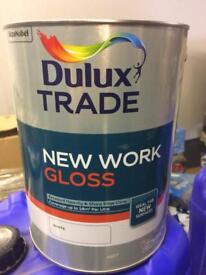 Dulux white gloss paint £30