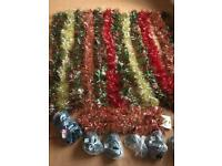 14 Strands Of Luxury Tinsel + 10 Sets Of Christmas Lights - (Ideal For Decorating A Larger Venue)