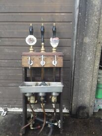 3 beer engine hand pull pumps