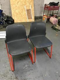 Tubular frame chair x4