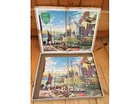 Vintage 1950/60s? COMPLETE,box,Victory 100 pieces wood jigsaw puzzle- Cornish harbour,Jack Merriott.