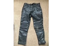 "Leather Vintage Motorcycle Trousers - 32"" - Used"