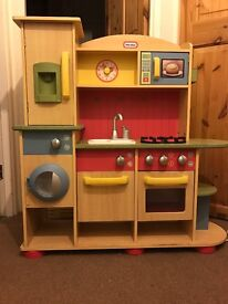 Little tikes kids wooden kitchen