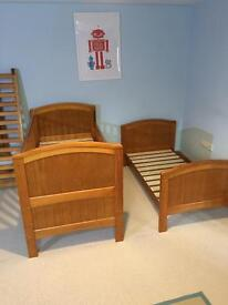2x Cotbeds / Toddler beds and matching Dresser unit