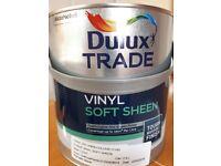 DULUX Vinyl Soft Sheen Paint. 2.5 litre. Colour: DH Linen