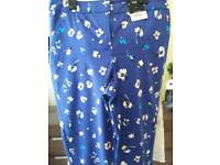 Wemons blue floral trousers size 8