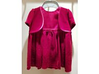 Baby Dress (0-3 mths) **AS NEW** Red Velor - Perfect Condition