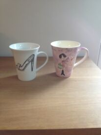Ladies mugs x2