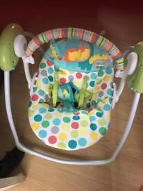 Chad valley baby swing - new condition -