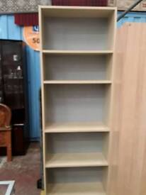 Beech Tall Bookcase. Delivery Available