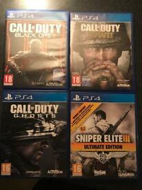 PS 4 games for sale