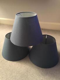 3 Blue lampshades (Ikea) - brand new