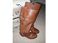Clarks knee high boots, size 4.5.