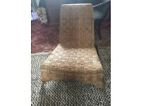 Ikea wicker and metal recling seat/ chair