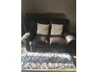 ***ON HOLD*** FREE - 2 Seater, brown leather sofa, reclining - CLEAN & GOOD CONDITION