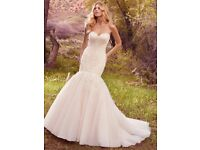 Maggie Sottero Wedding Dress, ' Keely' fit & flare with Matching Cathedral Veil. Now reduced to £750