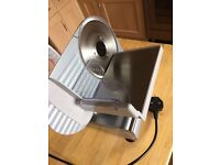 Andrew James Food Slicer Electric Precision 19cm Blade + Includes 2 Extra Blades For Bread and Meat