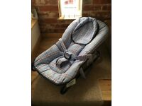 MOTHERCARE BABY BOUNCER AS NEW BLUE IMMACULATE