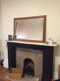 Very large pine wood mirror £25 ono