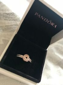 **BRAND NEW** Rose Gold Pandora ring, size 56
