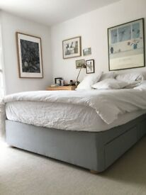 Double Divan Bed & Matress For Sale. 1 Year Old. Great Condition. London.