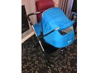 Blue silver cross pram