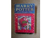 Harry Potter and the Philosopher's Stone First Edition 2001 J K Rowling
