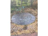 8ft slate patio circle