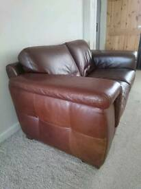 Italian Leather Brown Suite