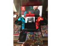 Nintendo switch plus 5 games, pro controller and loads of xtras!!!